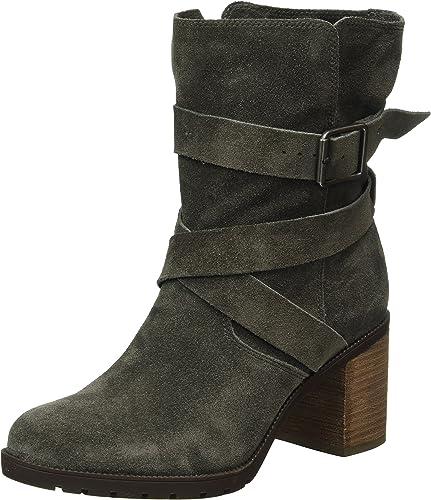 Clarks Unstructured Un Boucle Femme Chaussures en cuir gris
