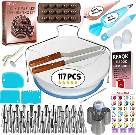 Set of 6 Smoothing Scrapers Kit SG Kitchen Solutions Cake Icing Smoother Decorating Tools