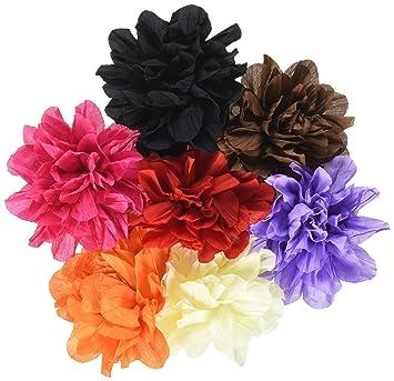 Amazon qinghan girls soft silk flower hair clips hair bows qinghan girls soft silk flower hair clips hair bows headband diy flowers pack of 12 mightylinksfo
