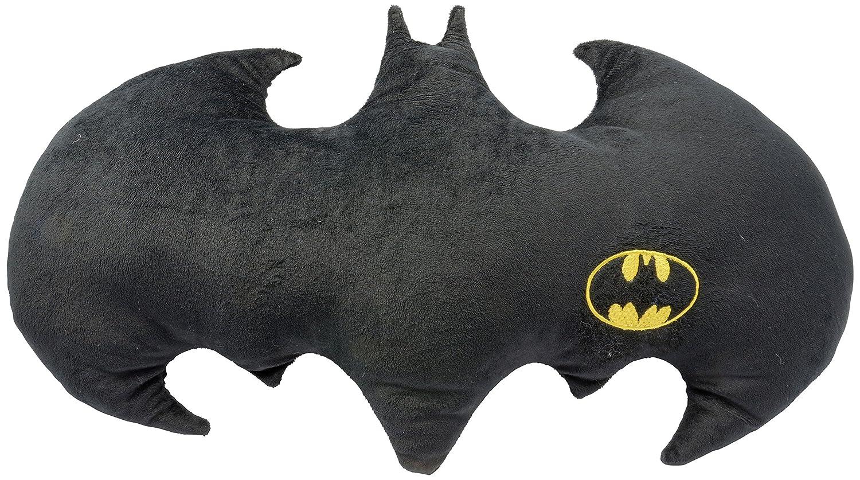 Batman 0122061 - Cojín con Forma de murciélago con Logo, poliéster, Negro, 50 x 37 x 5 cm