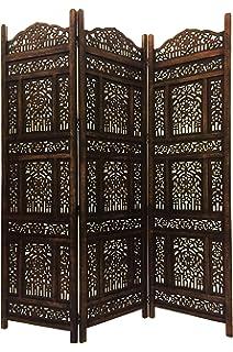 Paravent Jaipur 200 X 183 Cm Mangobaumholz Indische Trennwand