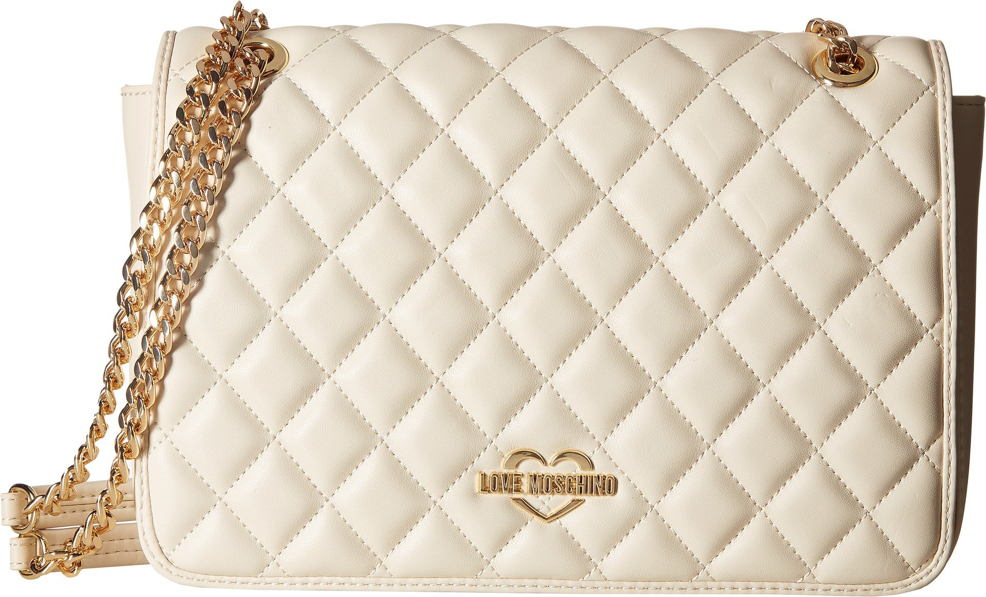 LOVE Moschino Women's Super Quilted Shoulder Bag Ivory One Size