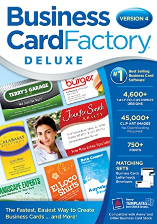 Amazon business card factory deluxe 40 download software business card factory deluxe 40 download reheart Images