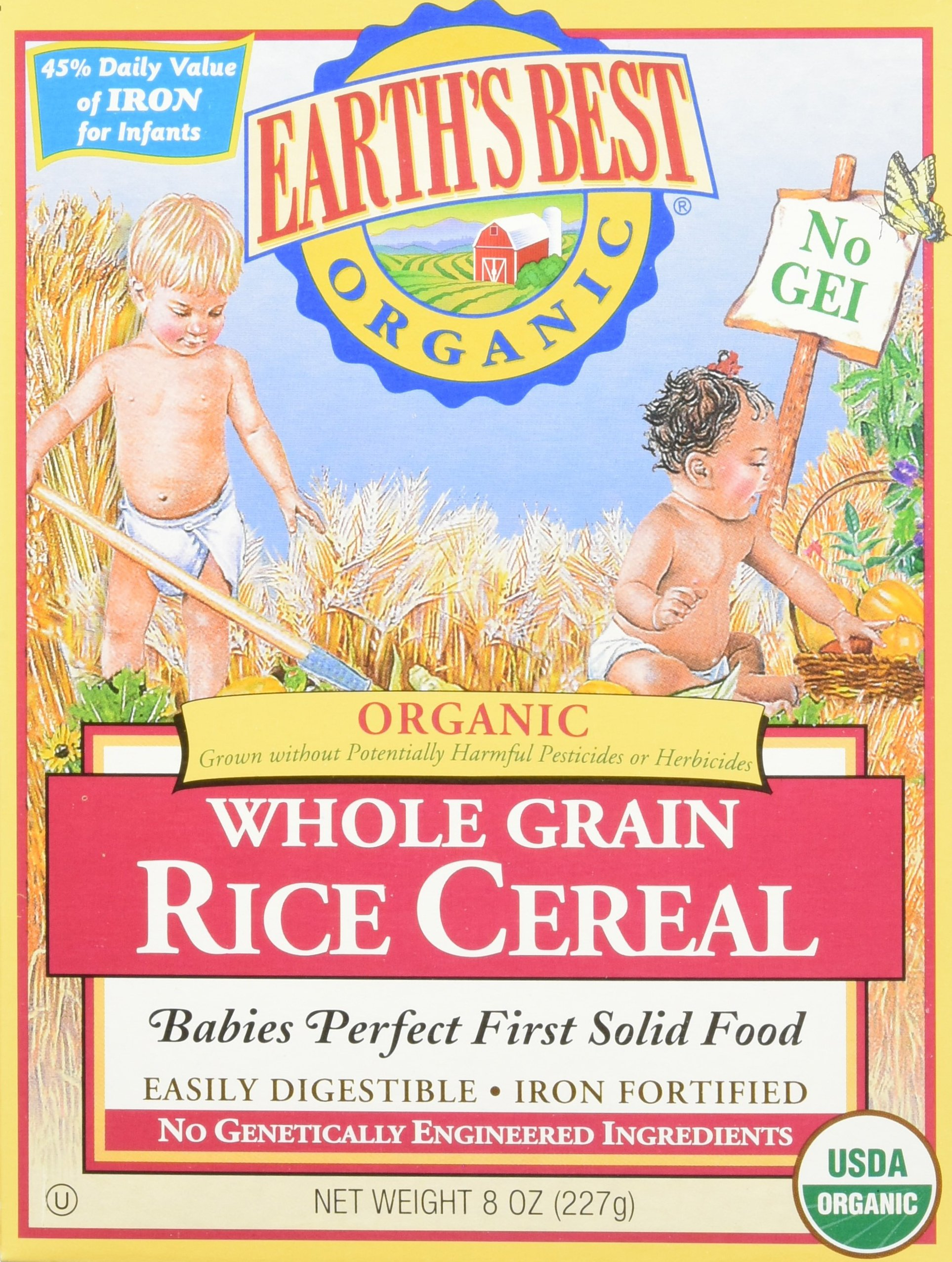 Earth's Best Baby Cereal - Rice - 8 Oz - 2 Pk by Earth's Best