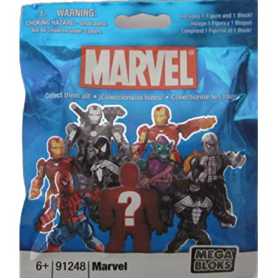 Mega Bloks Marvel Series 1 Minifigure Mystery Pack: Toys & Games