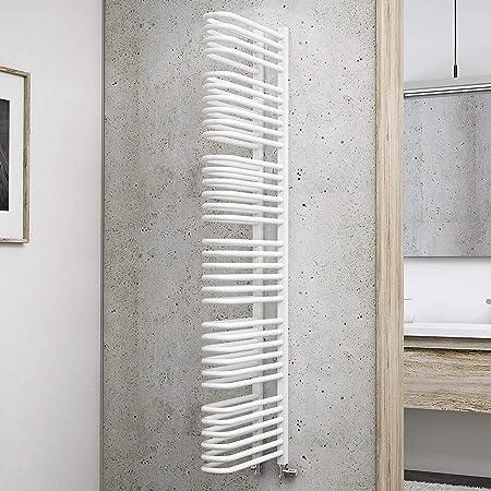 Schulte Radiador de baño biombos Porto, 160 x 13 cm, 1470 W potencia, conector inferior, Alpin de color blanco, Biombo de Radiador: Amazon.es: Bricolaje y herramientas