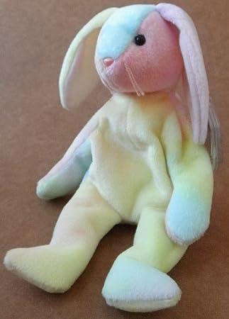22928eb8a94 Amazon.com  TY Beanie Babies Hippie the Rabbit Plush Toy Stuffed Animal   Toys   Games