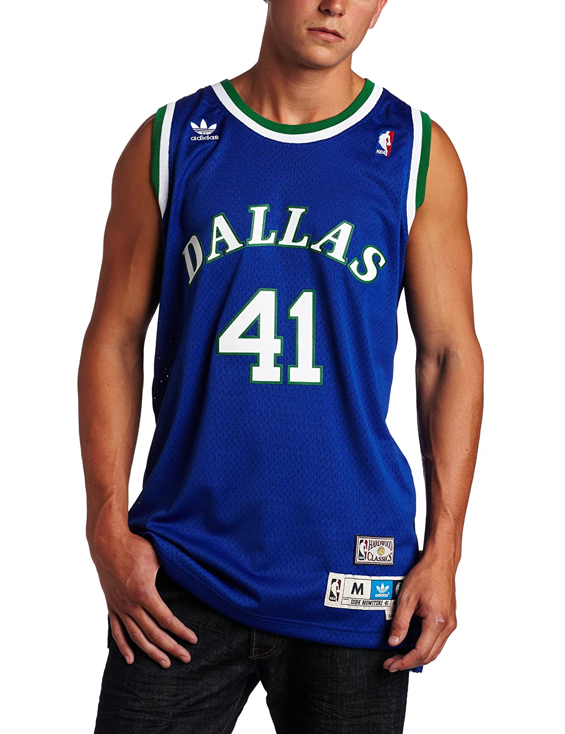 low priced 43fed 1a90a Amazon.com : Dirk Nowitzki Jersey: adidas Blue Throwback ...