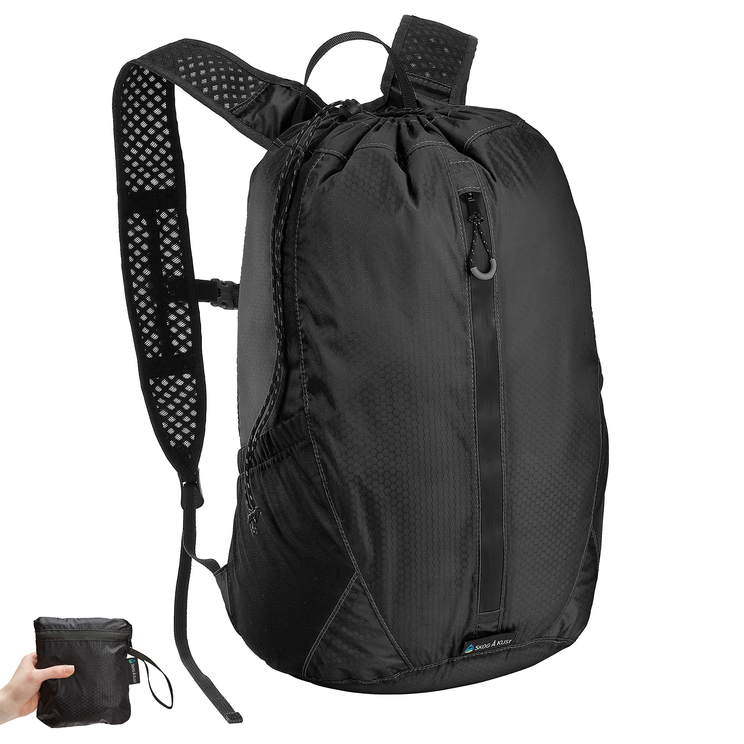 Såk Gear LiteSåk 2.0 Waterproof Ultralight Dry Bag | Black 2.0, 18 Liter Backpack
