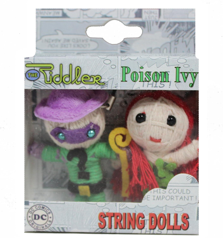 The Riddler-Poison DC Comics Originals IVY String Doll Keychain (2-Pack) C&D Visionary Inc. K-DC-0062-V-S-P