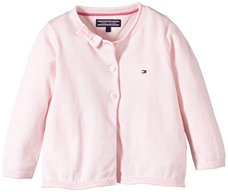 9a7b2fda Tommy Hilfiger Baby-Girls EZ57124400 Bow Baby Cardigan L/S Cardigan, Barely  Pink-PT, 3-6 Months: Amazon.co.uk: Clothing