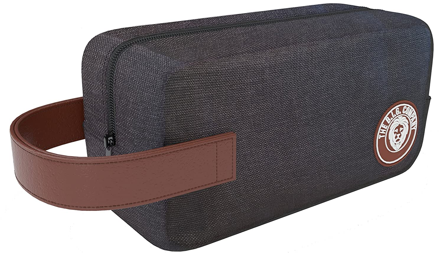 Amazon.com  Men s Bathroom Travel Toiletry Bag Packing Organizer - Shaving  Dopp Kit - Comes with Bonus Shaving Guide eBook - Grey - The B.I.G.  Company  ... 2c67fb1275956
