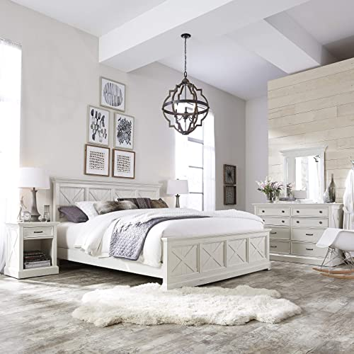Home Styles Seaside Lodge White King Bed