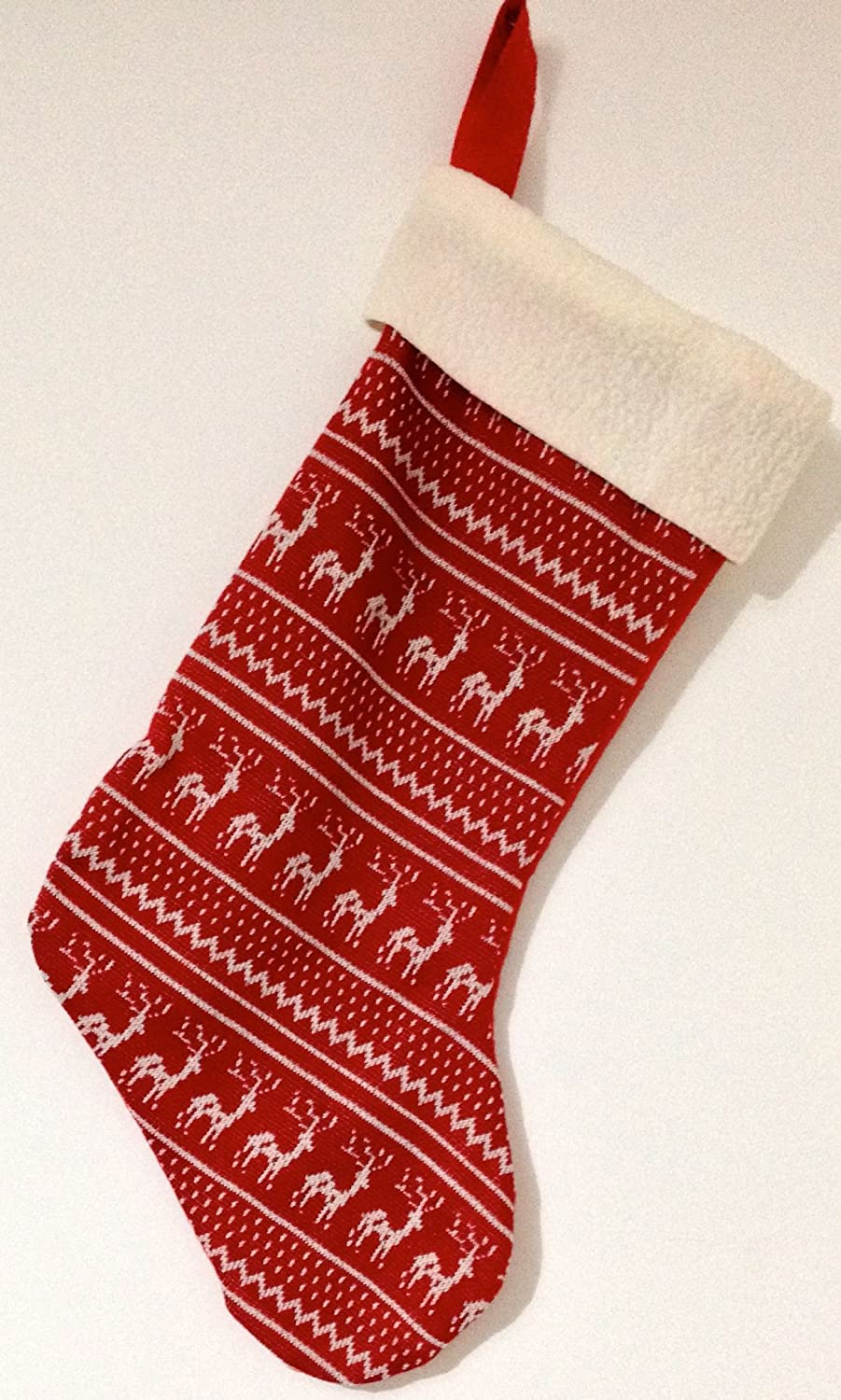 Red and White, Scandinavian / Nordic Style Christmas Stocking ...