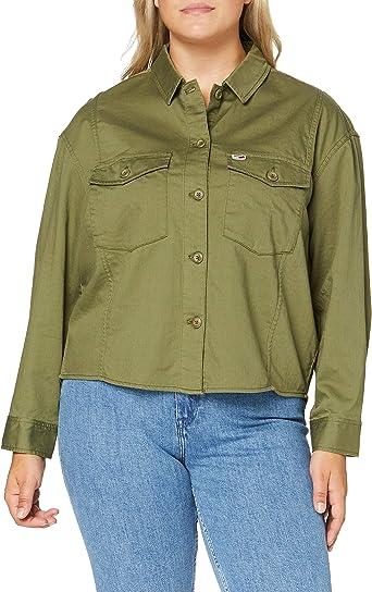 Tommy Hilfiger Tjw Surplus Twill Shirt Camisa, Verde (Green ...