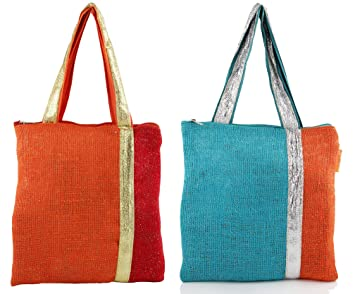 Amazon.com: Indian Jute Gift Bags for Christmas Wedding Favors - Set ...