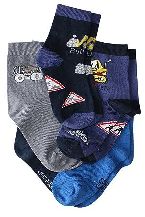 Weri Spezials 3-er Set Kindersocken Schnelle Truppe im Einsatz in Marine Kornblau Jeans