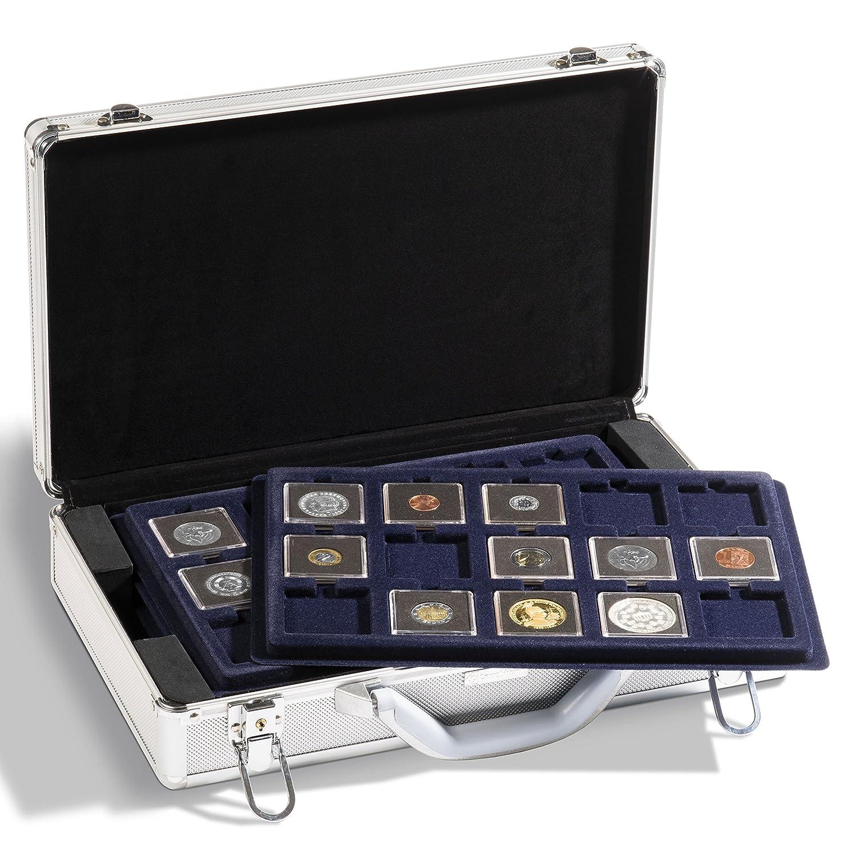 Leuchtturm 343105 Münzkoffer Cargo L 6 | Für 240 Münzen Münzen Münzen bis 33 mm Ø z.B 2 Euro-Münzen in Kapseln | Inkl. 6 Tableaus | Format: 407 x 95 x 245 mm 7d8e26