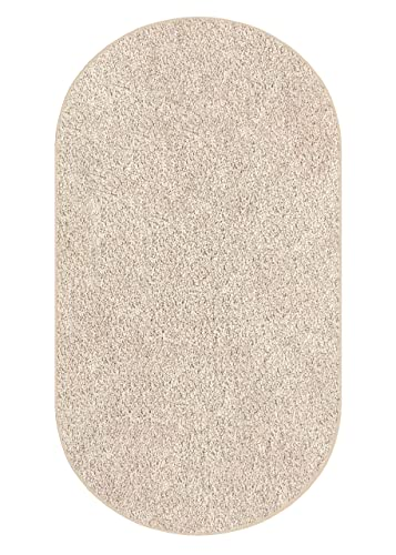 Koeckritz 3 x5 Oval Graham Cracker Area Rug Carpet. Multiple Sizes, Shapes