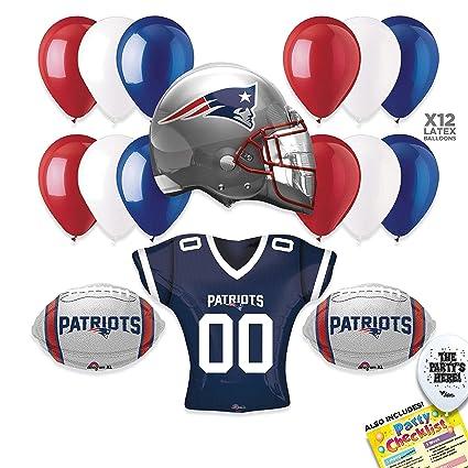 Amazon.com  New England Patriots Super Bowl 53 Football NFL Sports Team  LARGE Party Supplies Decorations Balloon Kit - 17pc  Toys   Games 2e91621de