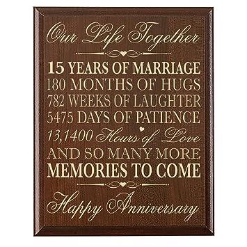 Amazon.com: 15th Wedding Anniversary Gift for Couple 15th ...