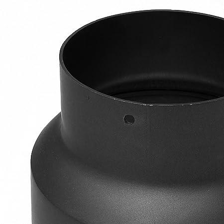 Raik SH013 - 013-SW conducto de humos/tubo de estufa Reducción 250 mm - 200 mm colour negro: Amazon.es: Bricolaje y herramientas