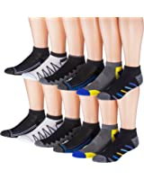 James Fiallo Men's 12-Pairs Low Cut Athletic Sport Socks