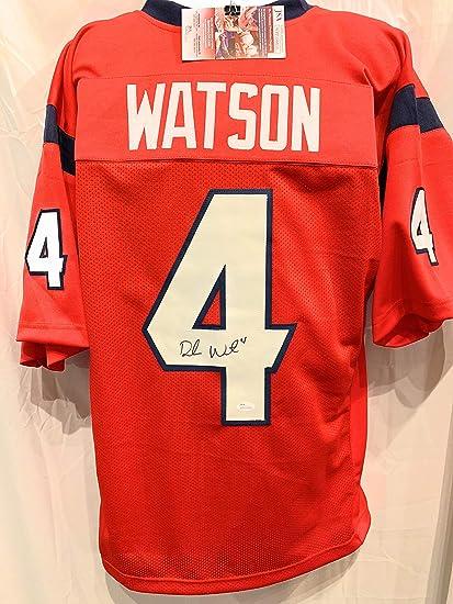 Deshaun Watson Houston Texans Signed Autograph Red Custom Style ...