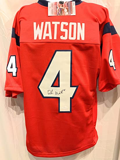Image Unavailable. Image not available for. Color  Deshaun Watson Houston  Texans Signed Autograph Red Custom ... 5fbeff169