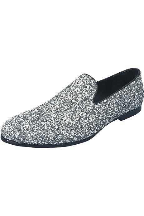 Amali Men/'s Metallic Glitter Slip on Smoking Slipper Style Parnos