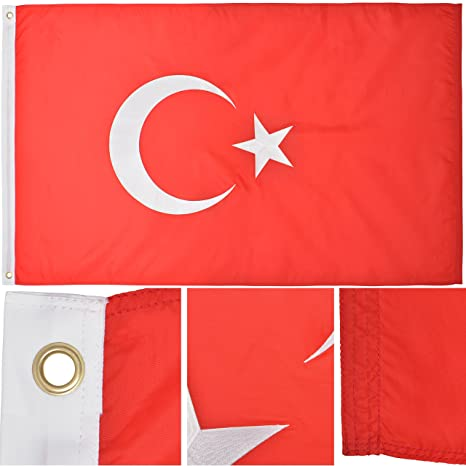 amazon com turkey flag 3 x 5 ft 210d nylon premium outdoor