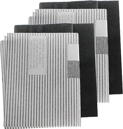 Filtros antigrasa Spares2go grandes universales para campana extractora y ventilador de extractor (cortar al tamaño adecuado) (2 paquetes de 2 filtros).: Amazon.es: Hogar