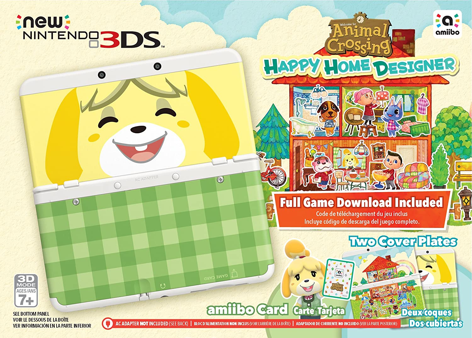 nintendo animal crossing happy home designer bundle w amiibo card limited edition new 3ds console nintendo 3ds amazonca computer and video games - Personal Home Designer