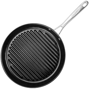 "TECHEF OXGP Onyx Collection 12"" Grill Pan New Teflon Platinum Non-Stick Coating (PFOA Free), Made in Korea"", Black"