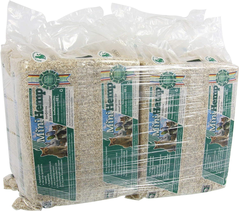 VADIGRAN - Bandeja de Arena para Animales pequeños - Mantillo de cáñamo - 2,8kg