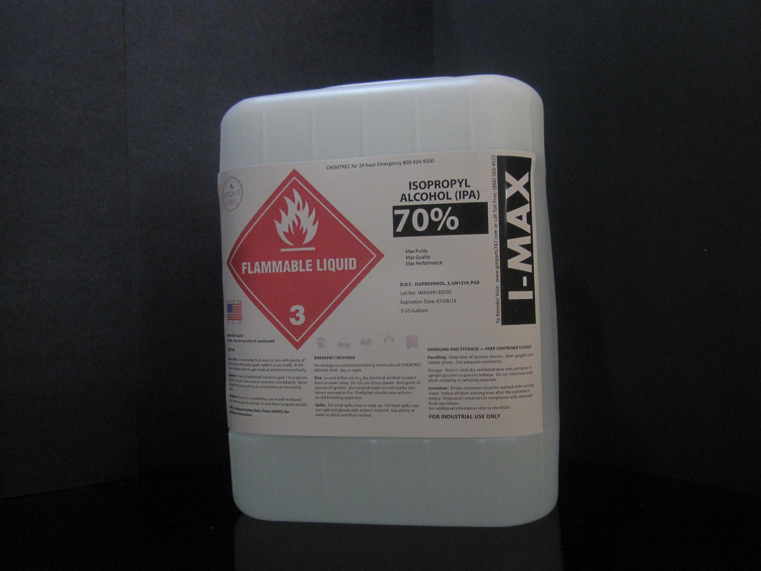 Isopropyl Alcohol - IPA 70% (5 Gallon)