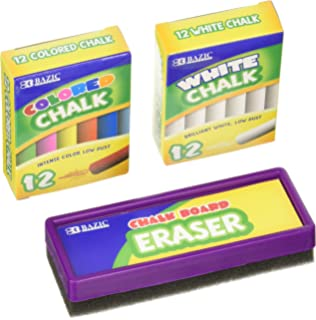 Chalk And Eraser Set   Comes With Colored And White Chalk. By Basic