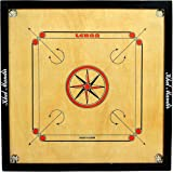 Gsi Khel Mandir Gloss Finish Carrom Board With Coins, Striker And Powder (Large 32 Inch 4Mm) - Brown