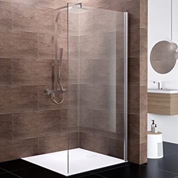 Schulte Paroi De Douche A L Italienne Paroi Fixe Walk In Boston Verre 10 Mm Profile Aspect Chrome 120x200 Cm