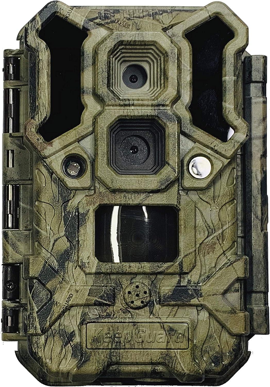 Keepguard Cámara de Fototrampeo KG695 Ultra LR Dos Objetivos | Cámara de Caza, Espía y Vigilancia Diurna y Nocturna | Leds Invisibles | Alcance Infrarrojos 30M | 30 megapixeles | Vídeos Full HD