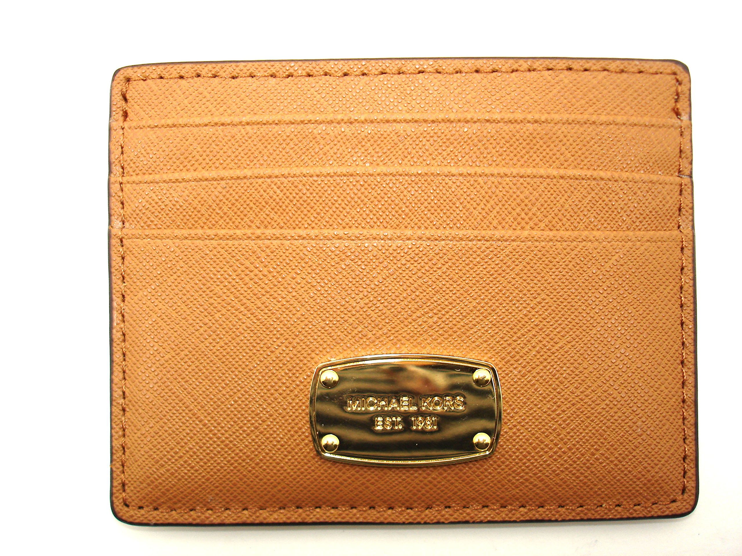 MICHAEL Michael Kors Jet Set Travel Large ID Card Holder Saffiano Leather Acorn