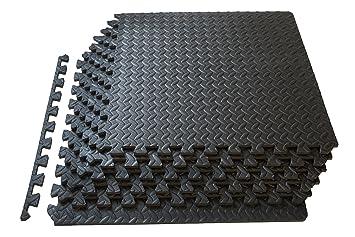 Interlocking Rubber Floor Tiles rubber interlocking floor tile 92 x 92 cm black Prosource Fs 1908 Pzzl Puzzle Exercise Mat Eva Foam Interlocking Tiles Black