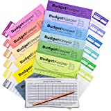 Cash Envelope System-Budget Envelopes-Budget Keeper-12 Assorted Colors-Tear and Water Resistant-12 Expense Ledgers, Pen…