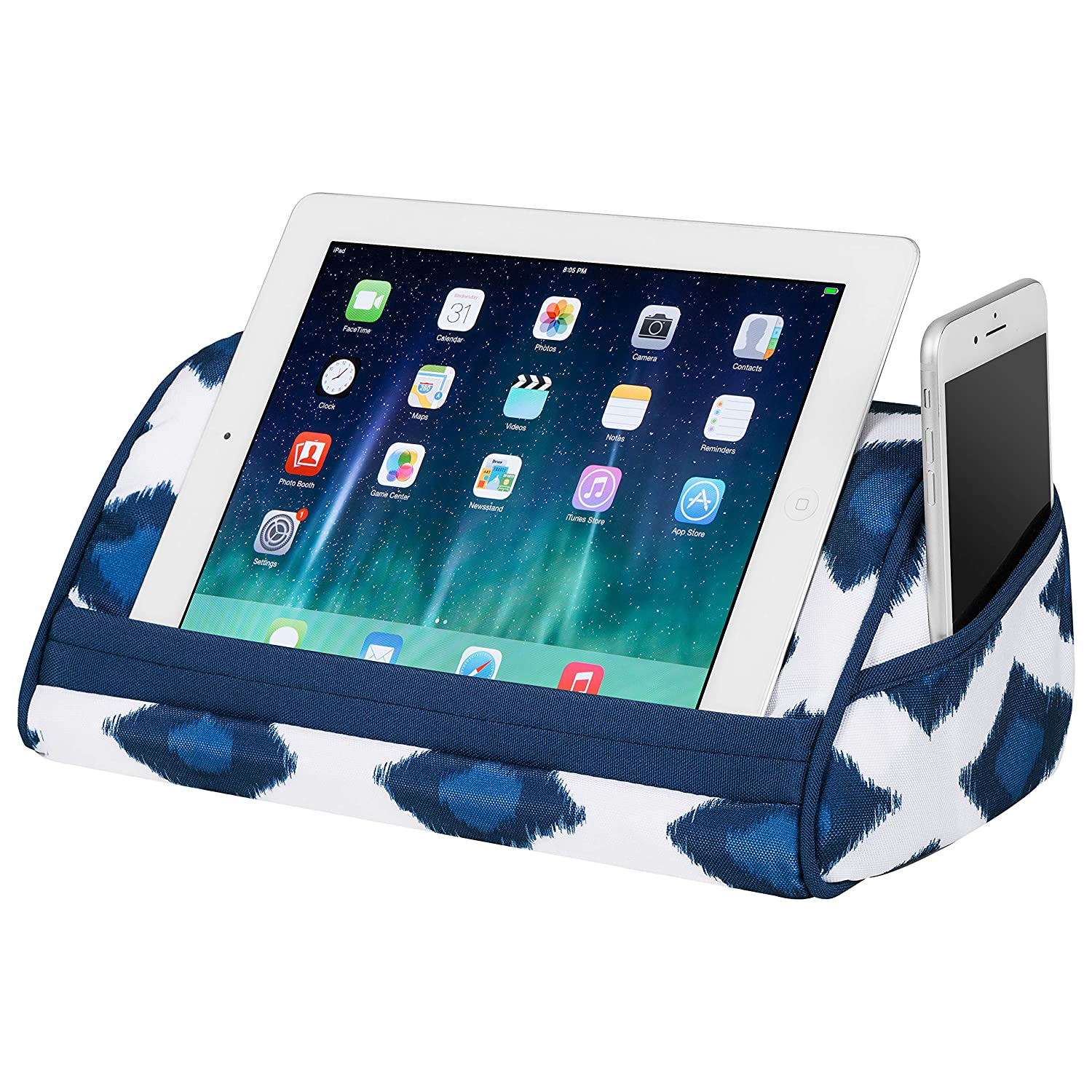 LapGear Designer Tablet Pillow//Tablet Stand - Style #35538 Fits up to 10.1 Tablet Gray Argyle