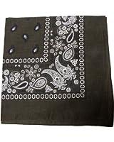 The Dozen Bandanas Head Wrap, 100% Cotton, 20 x 20- Inch