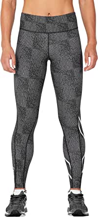 2XU Womens Mid-Rise Print Compression Tights w/Storage WA4628b