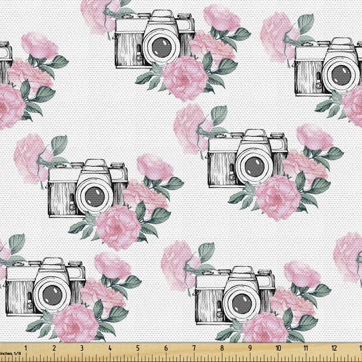 2 pieces vintage floral fabric pink and lavender