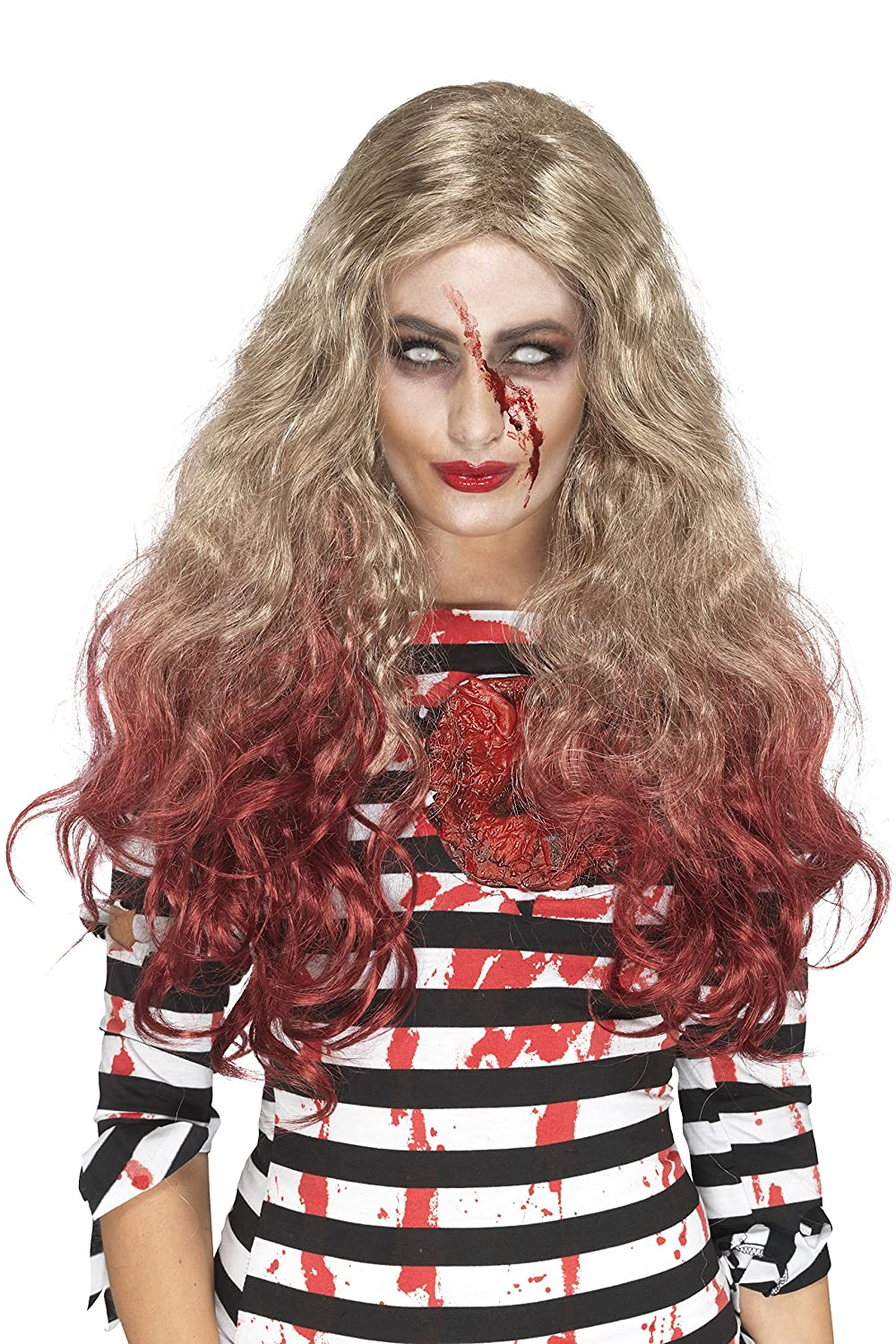 Smiffys Women's Deluxe Zombie Blood Drip Wig, Blonde/Red, One Size Smiffy's Import 46855