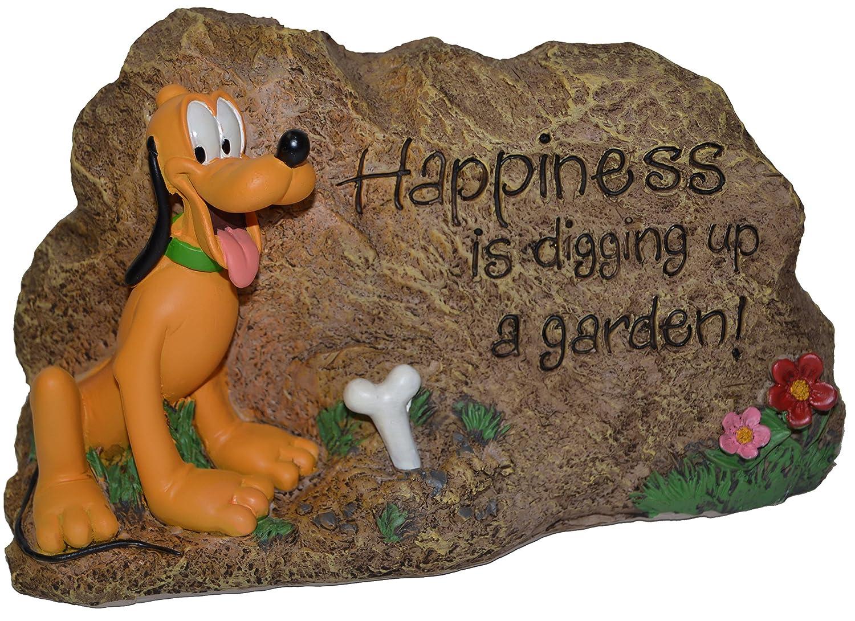 Amazon.com : Woods Decorative Garden Rock Disney Pluto New : Garden ...