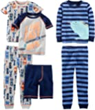 Simple Joys by Carter's Boys' 6-Piece Snug Fit Cotton Pajama Set